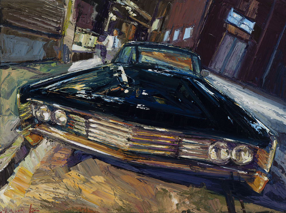 James Michalopoulos, 'Urban,' 2016, oil on canvas, collection of Jesse L. Wimberly IV