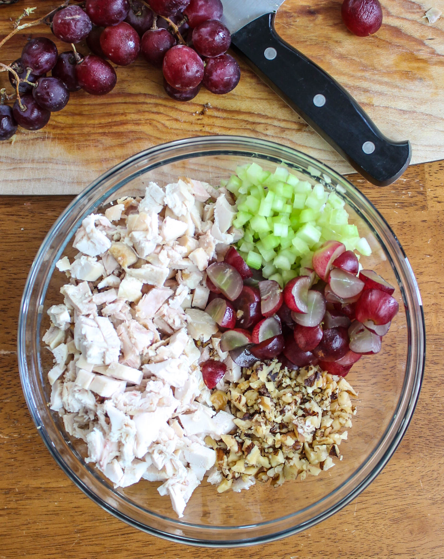 grapes chicken walnuts celery
