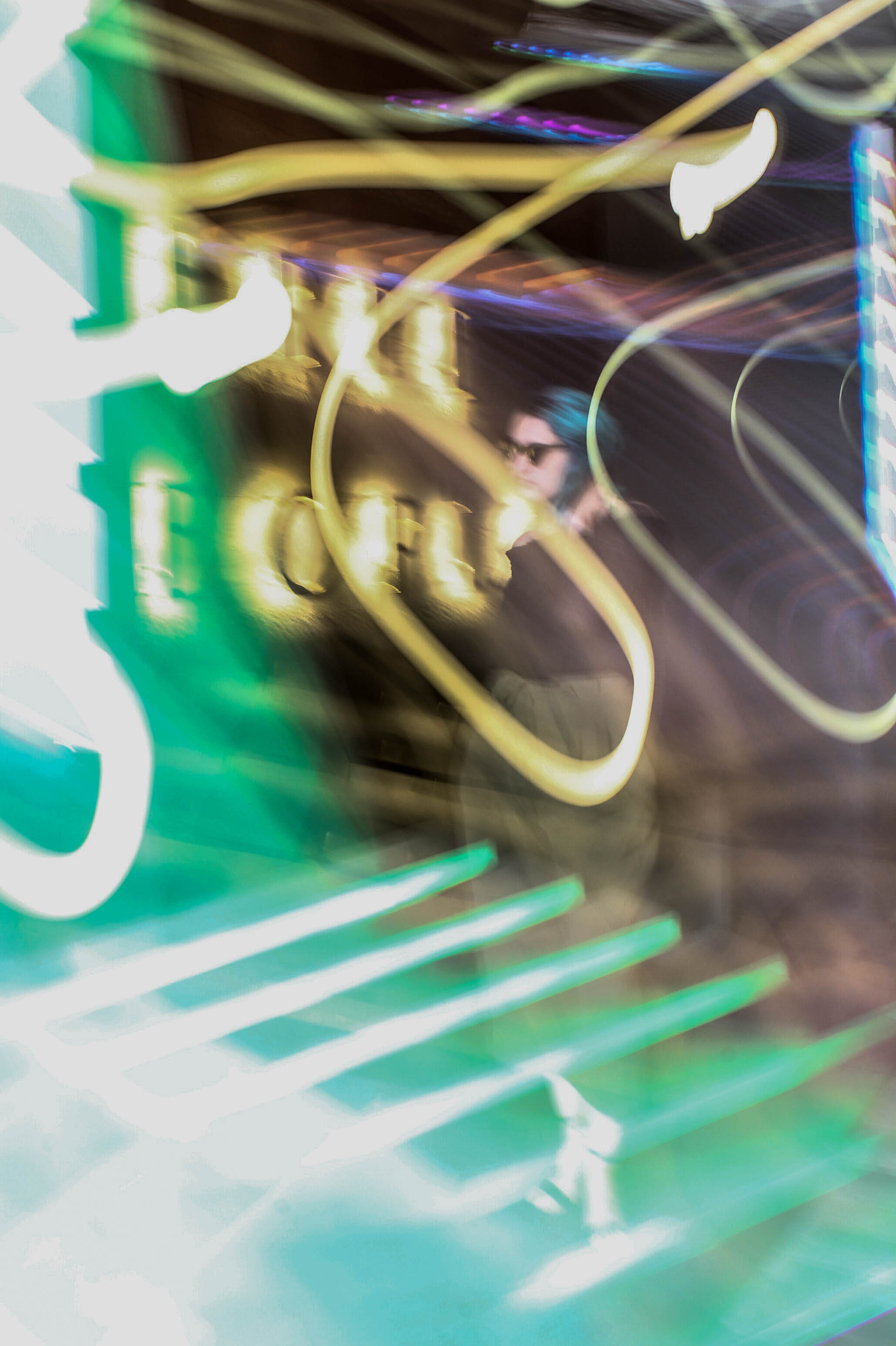 abstract neon light photo