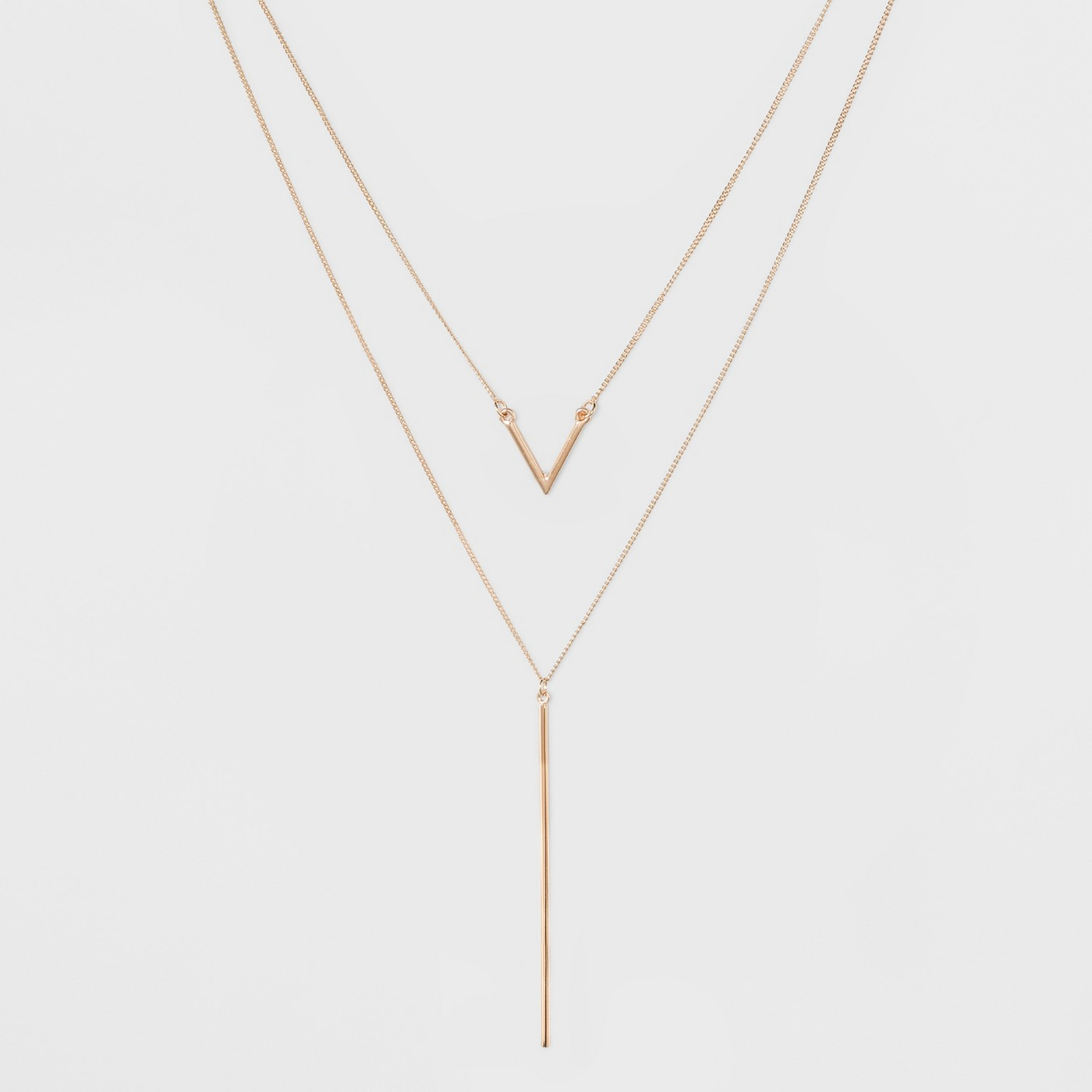 Multi-Strand Long Geometric Necklace