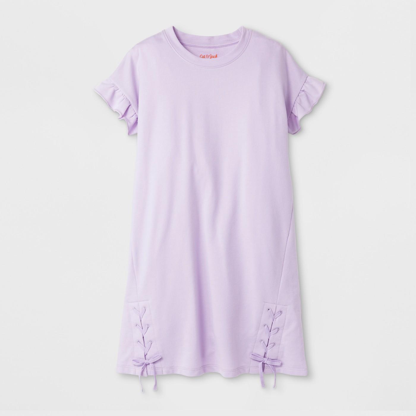 Girls' Lace-Up Dress