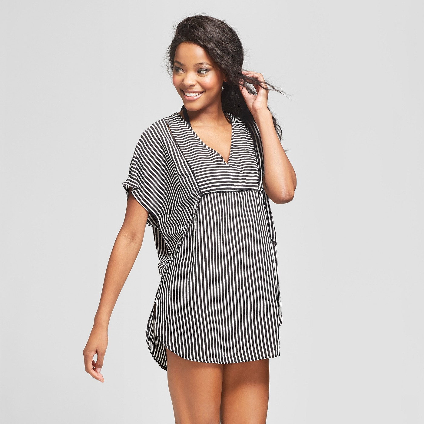 Striped Kaftan Cover Up