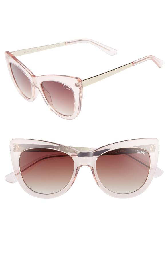 Clear Blush Cateye Sunglasses