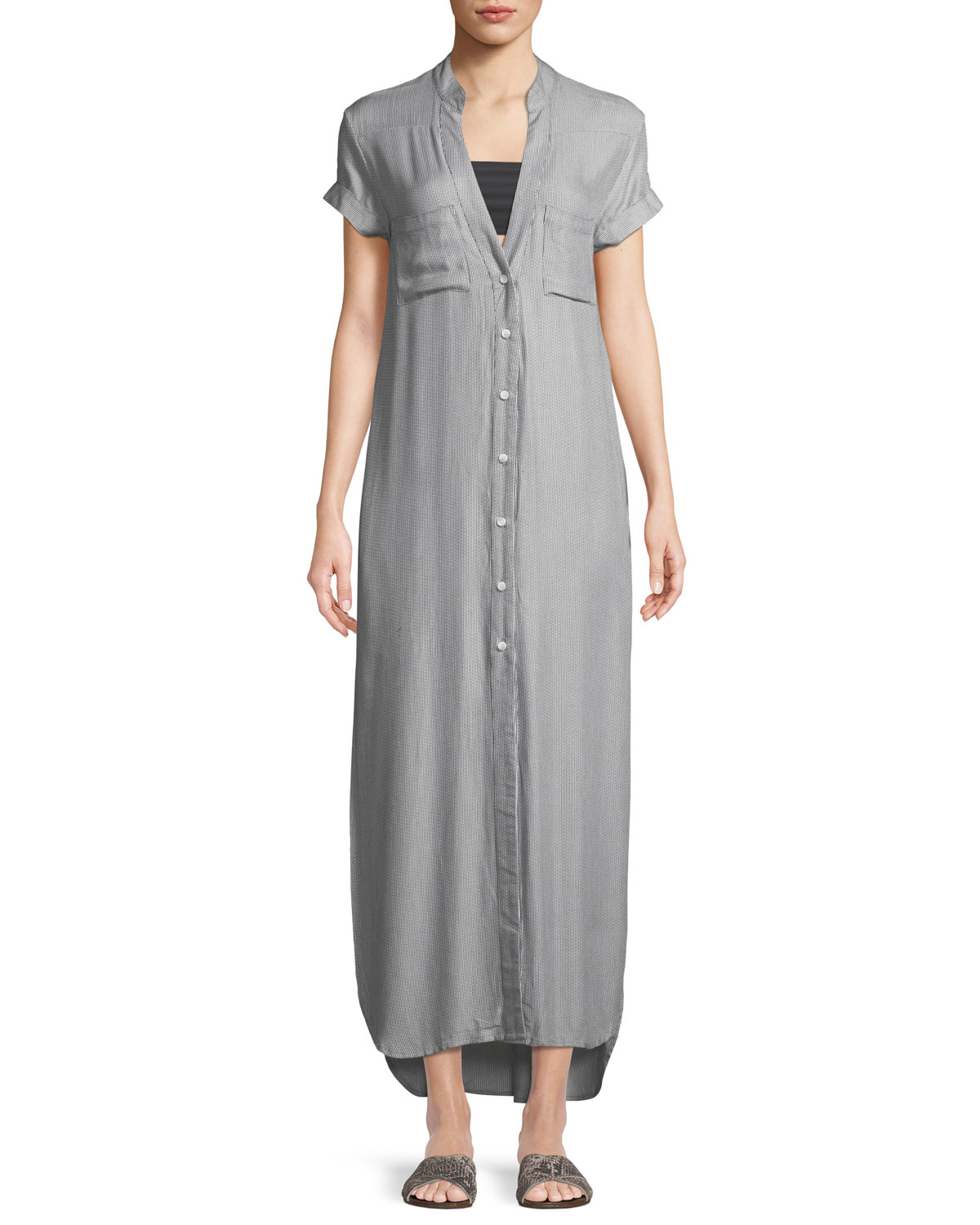 Maxi Shirt Dress Coverup