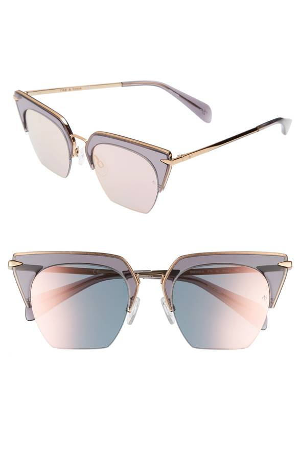 Transparent Retro Cateye Sunglasses