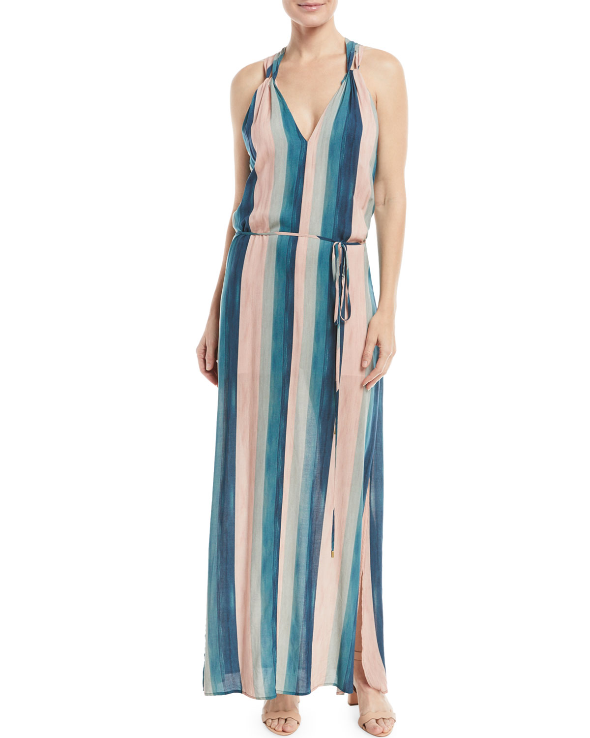 Striped Coverup Maxi Dress