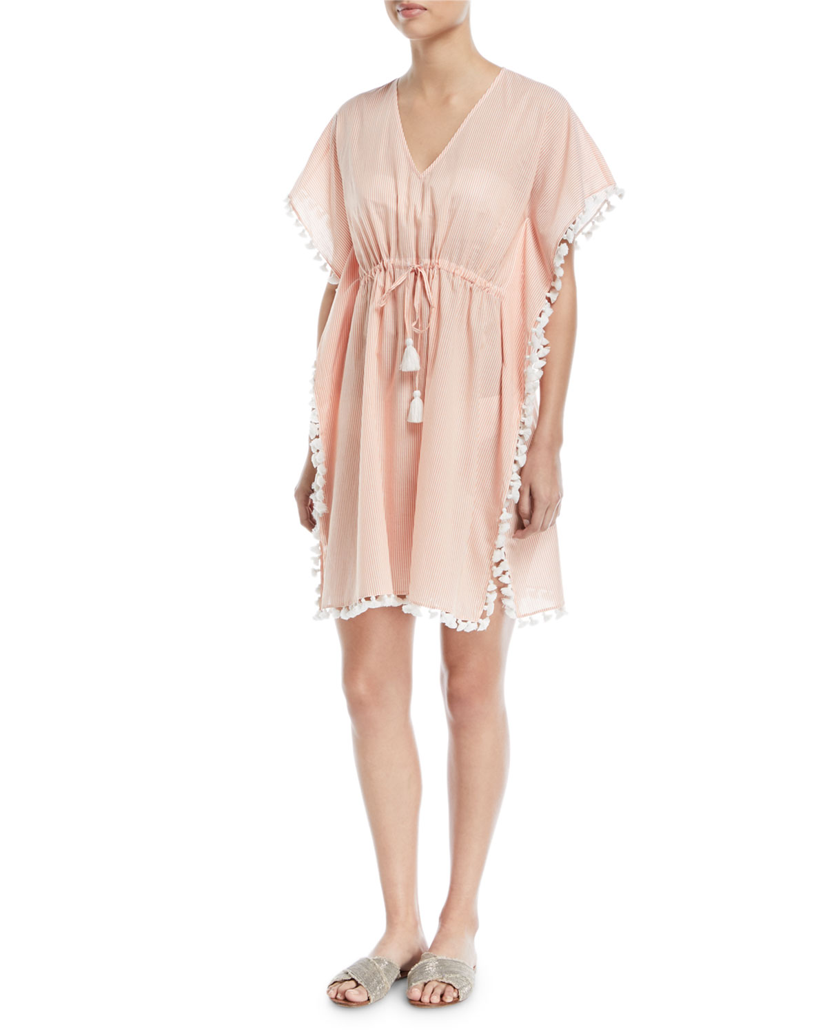 Striped Tassel Kaftan