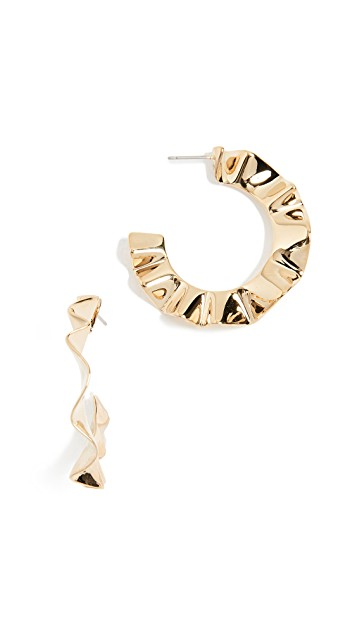 Frilled to Pieces Hoops