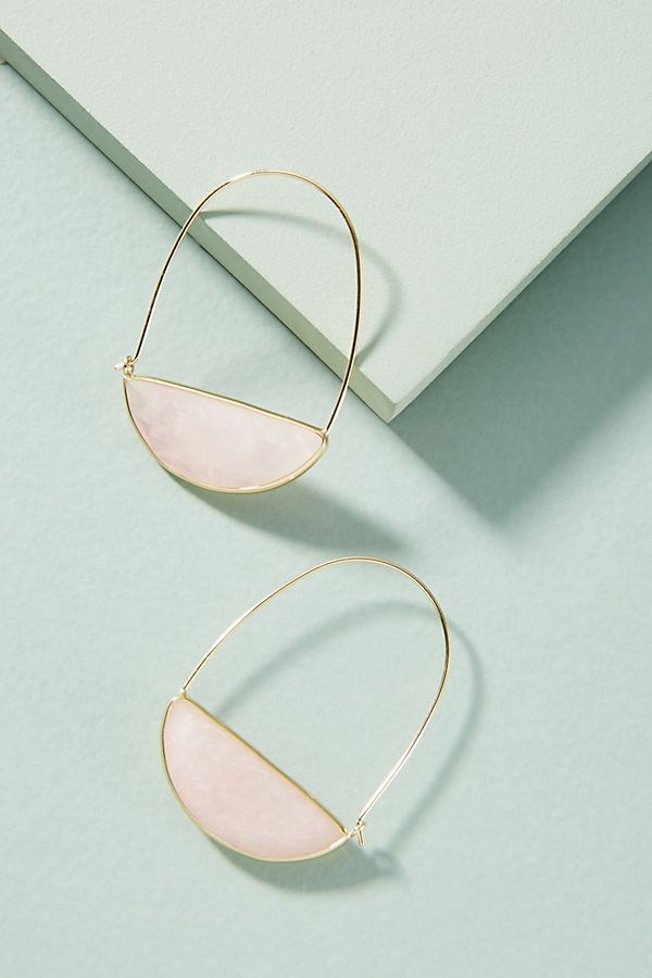 Stone Crescent Hoops