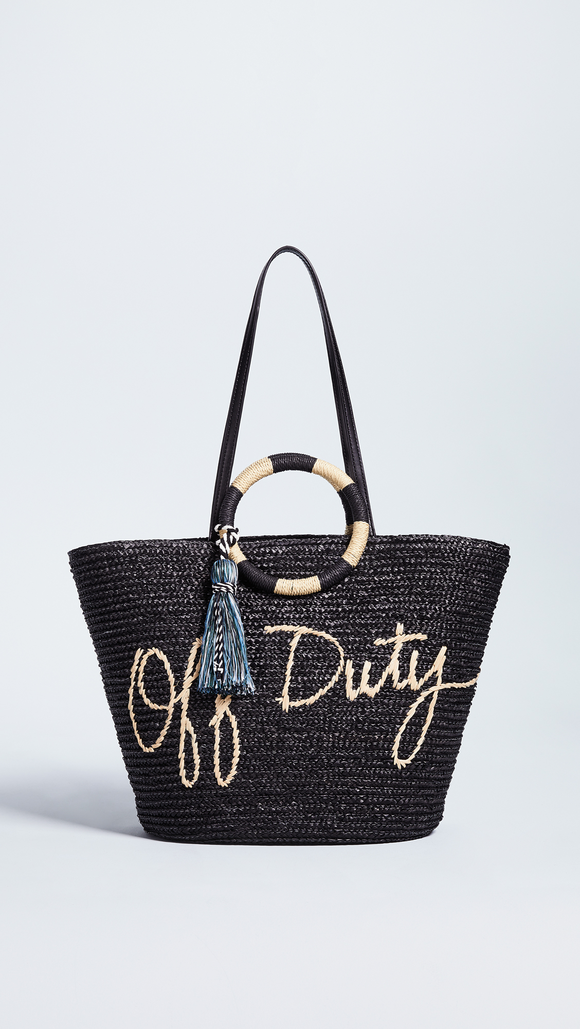 Off Duty Straw Tote