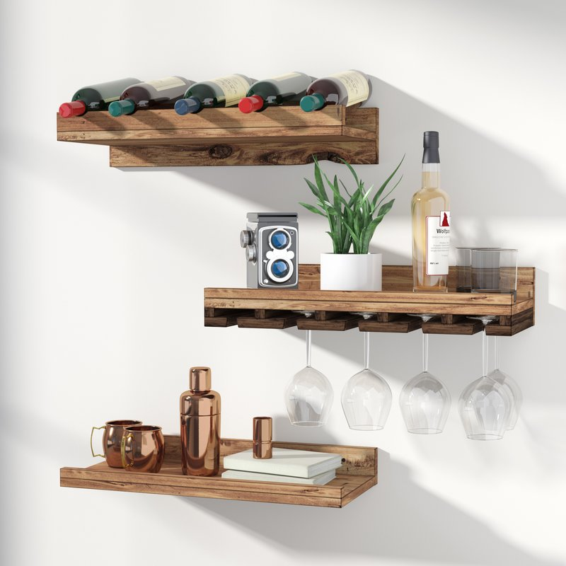 Three-Piece Wine Rack