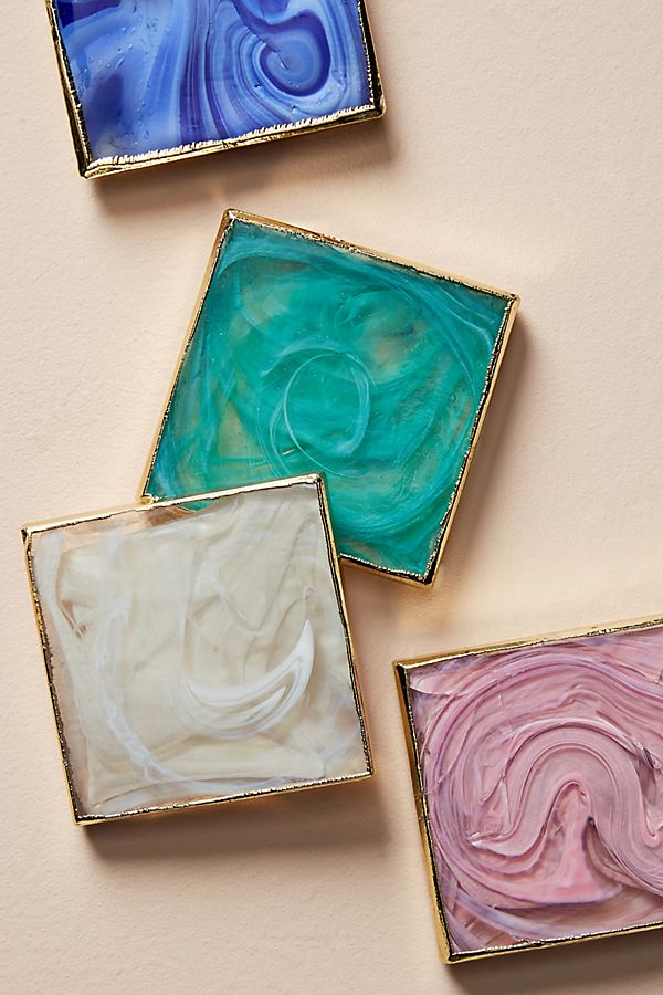 Swirled Glass Coasters
