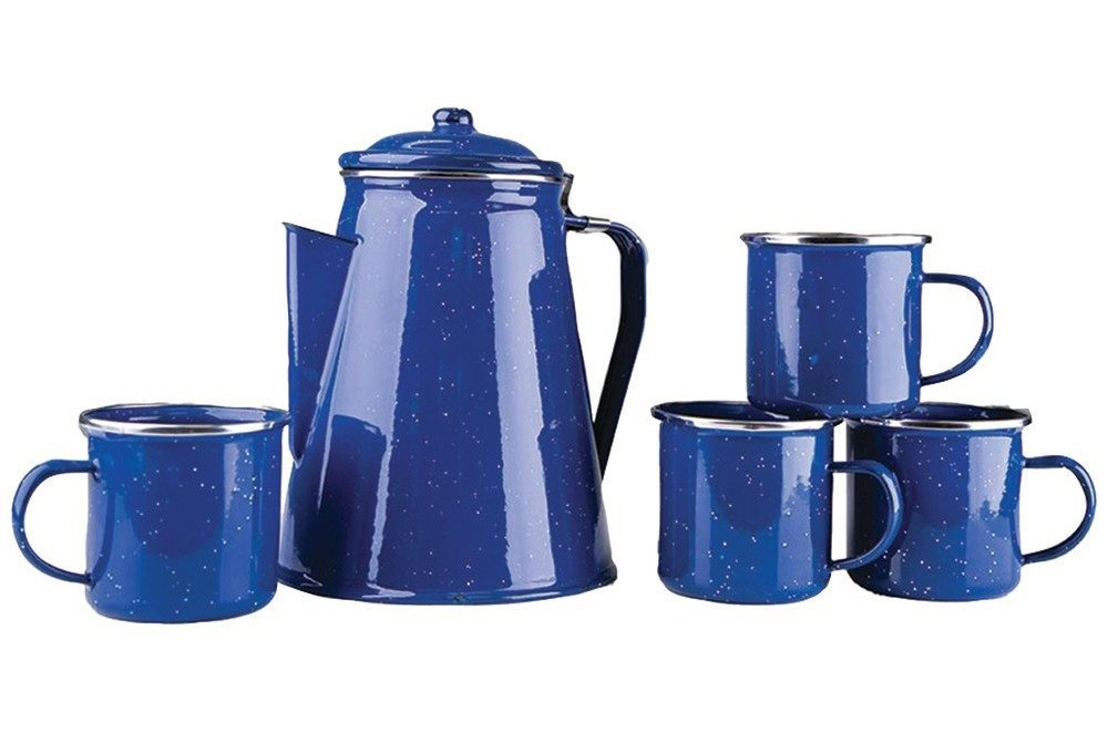 Enamel Percolator Set