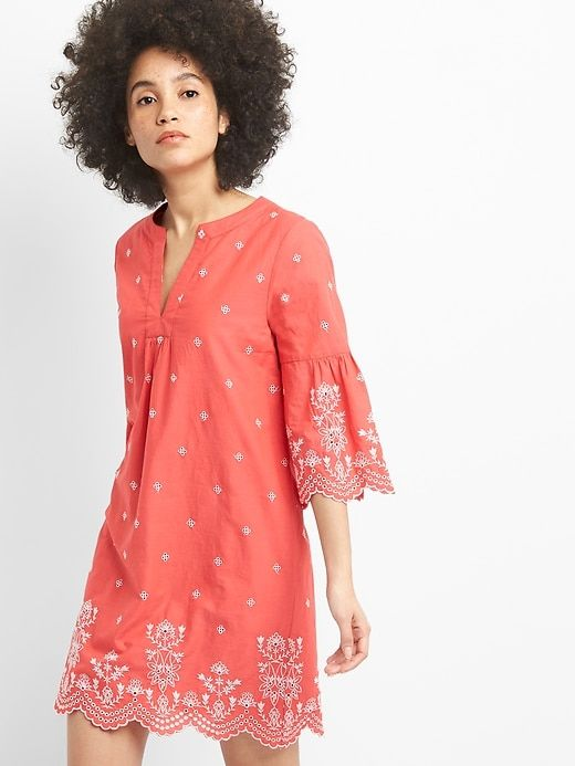Gap Salmon Eyelet Dress.jpg
