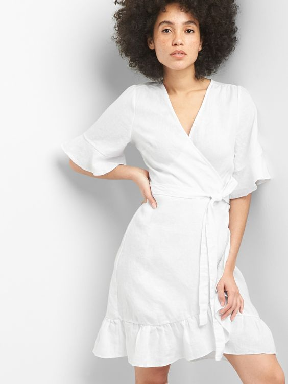 Gap White Ruffle Dress.jpg