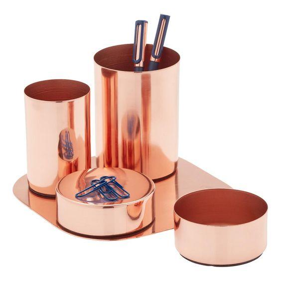 Copper Magnetic Desk Set