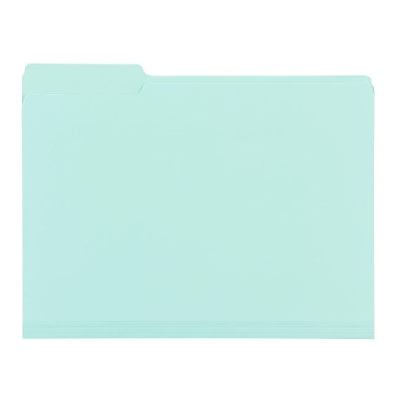 Mint File Folders