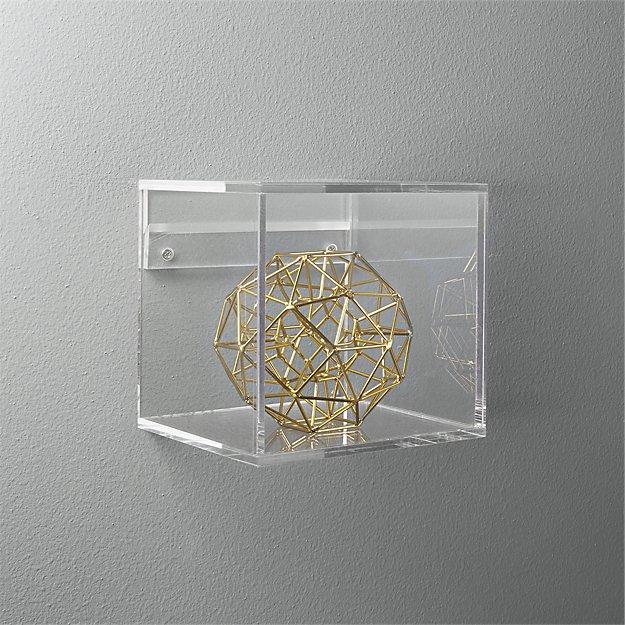 Acrylic Storage Cube Shelf
