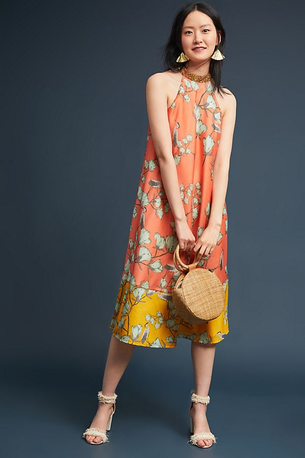 Blossom Colorblock Floral Dress