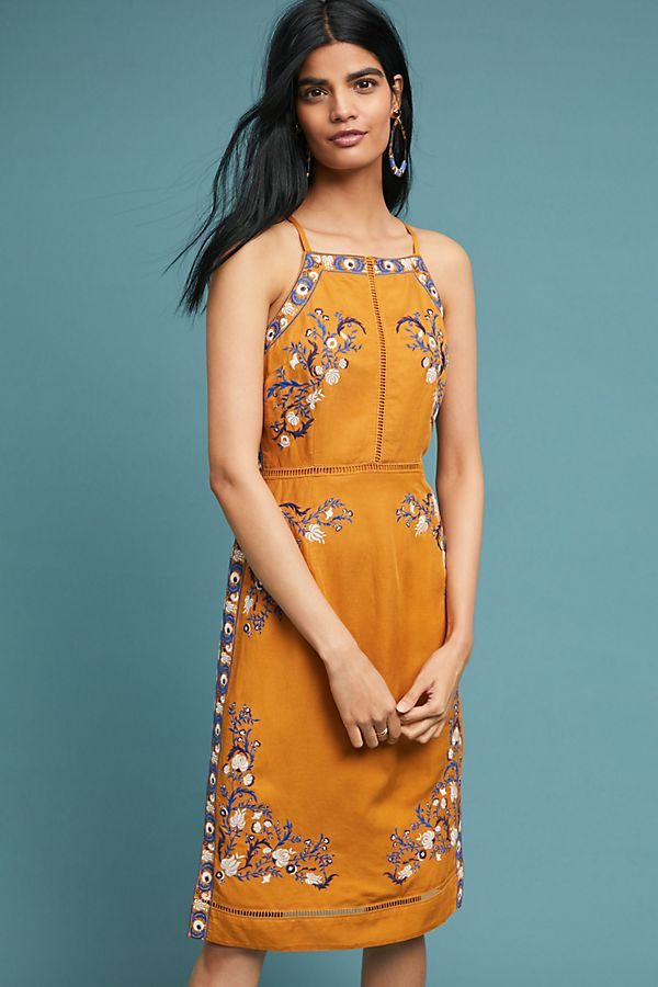 Cerulean Embroidered Dress
