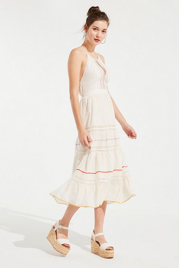 Lace Tiered Midi Dress