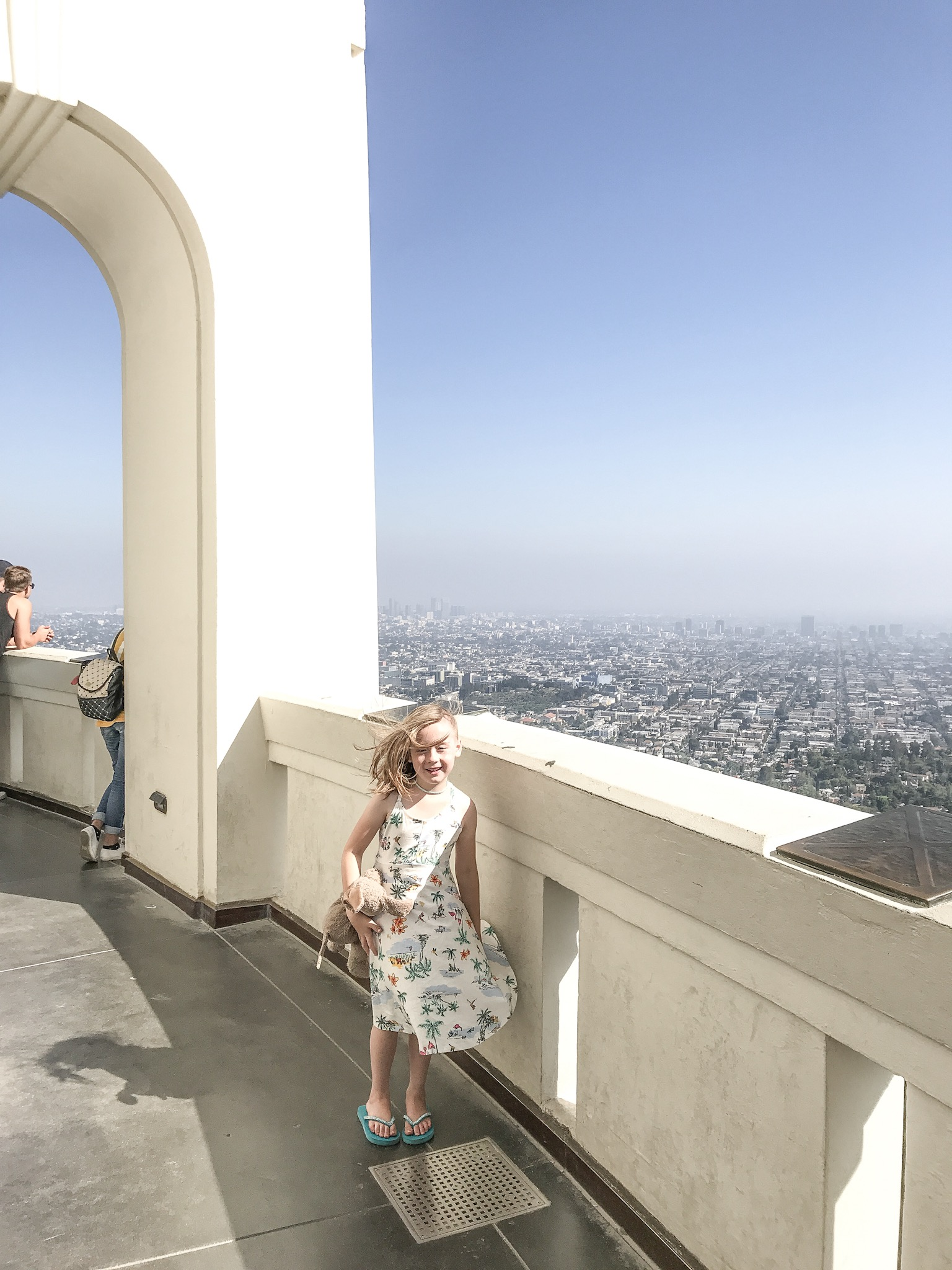Having a Marilyn moment at Griffith Observatory.