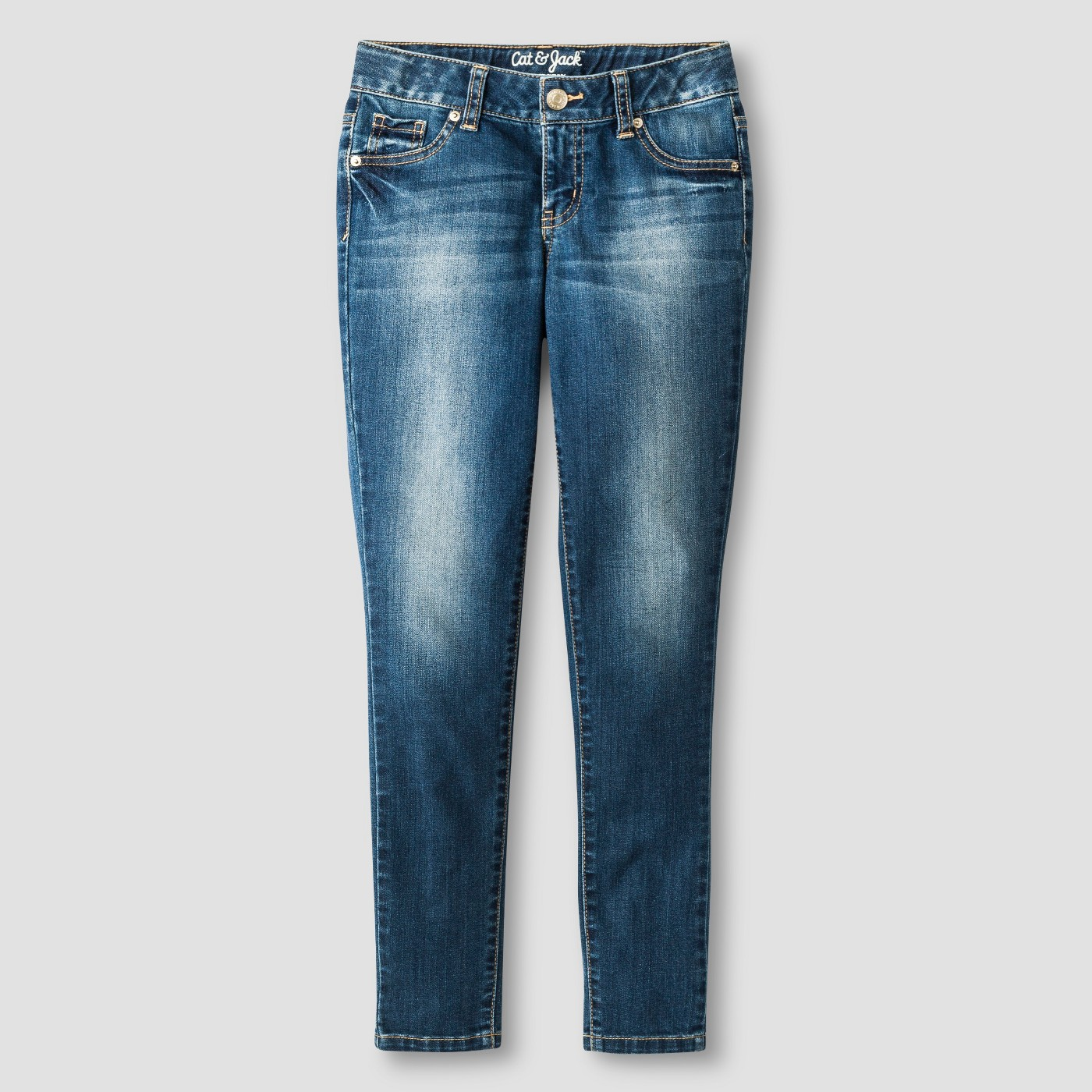 Girls' Super Skinny Medium-Wash Jeans - $10