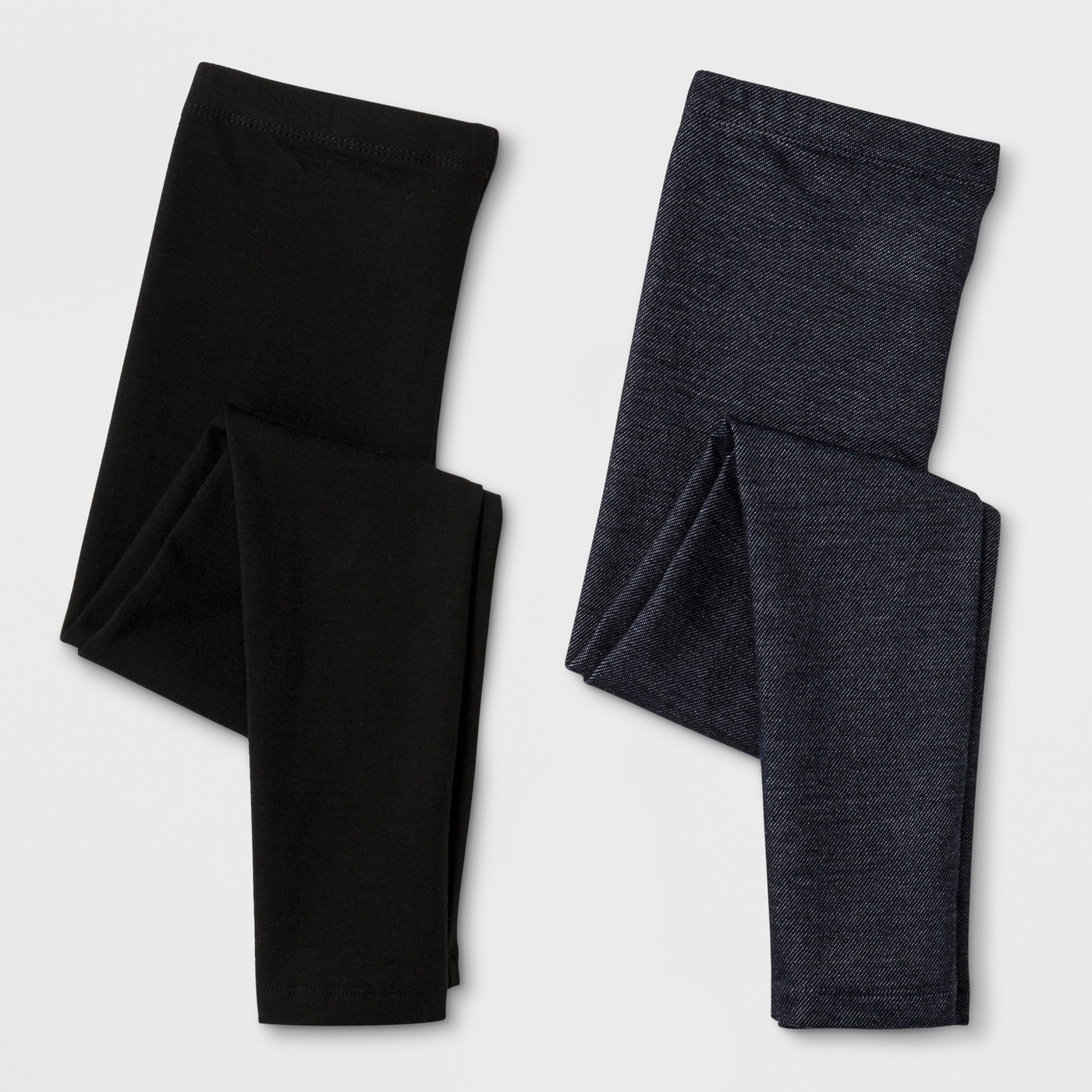 Girls' 2-Pack Jersey Leggings - $12