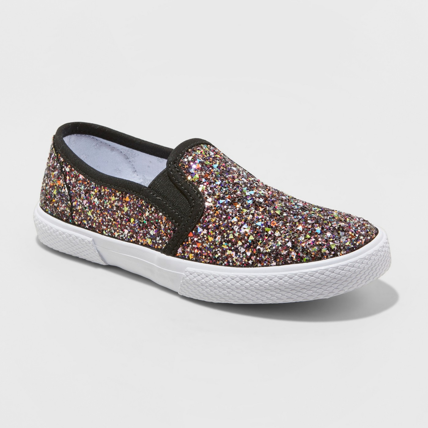 Girls' Glitter Slip-On Sneaker - $10