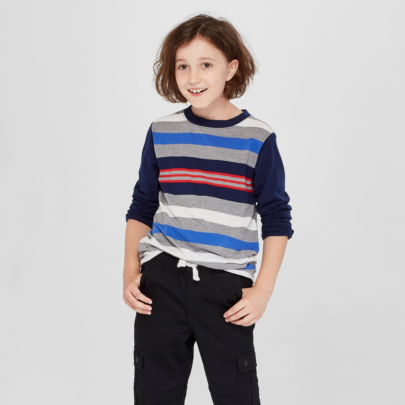 Boys' Striped Long-Sleeved Tee - $6