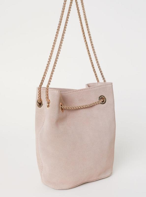 H&M - Suede Bucket Bag - $55