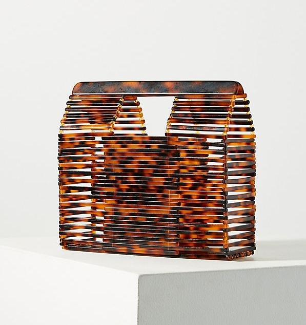 Anthropologie - Caged Lucite Basket Bag - $88