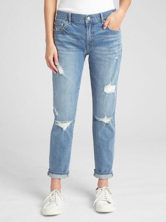 Gap: Midrise Best Girlfriend Jeans - $56
