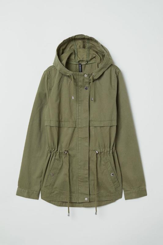 H&M: Short Cotton Parka - $40