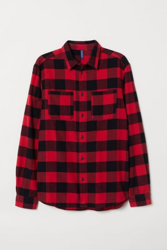 1. H&M: Cotton Flannel Shirt - $25