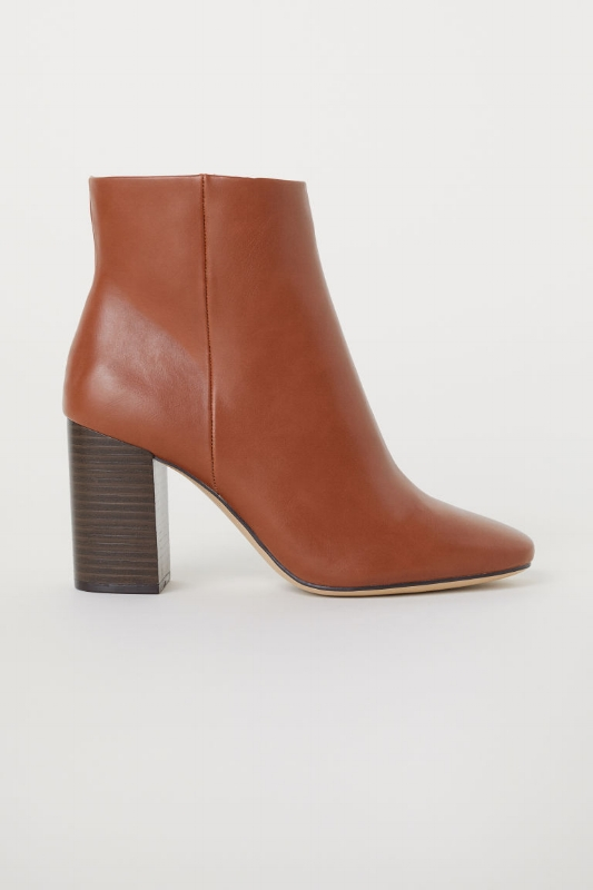 1. H&M: Block-Heel Ankle Boots - $40