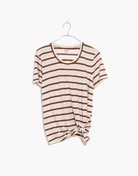 Madewell: Whisper Cotton Knot-Front Tee - $35