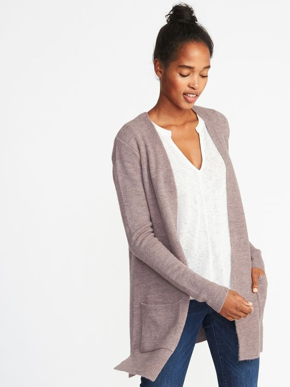 Old Navy: Plush-Knit Long-Line Cardigan - $40