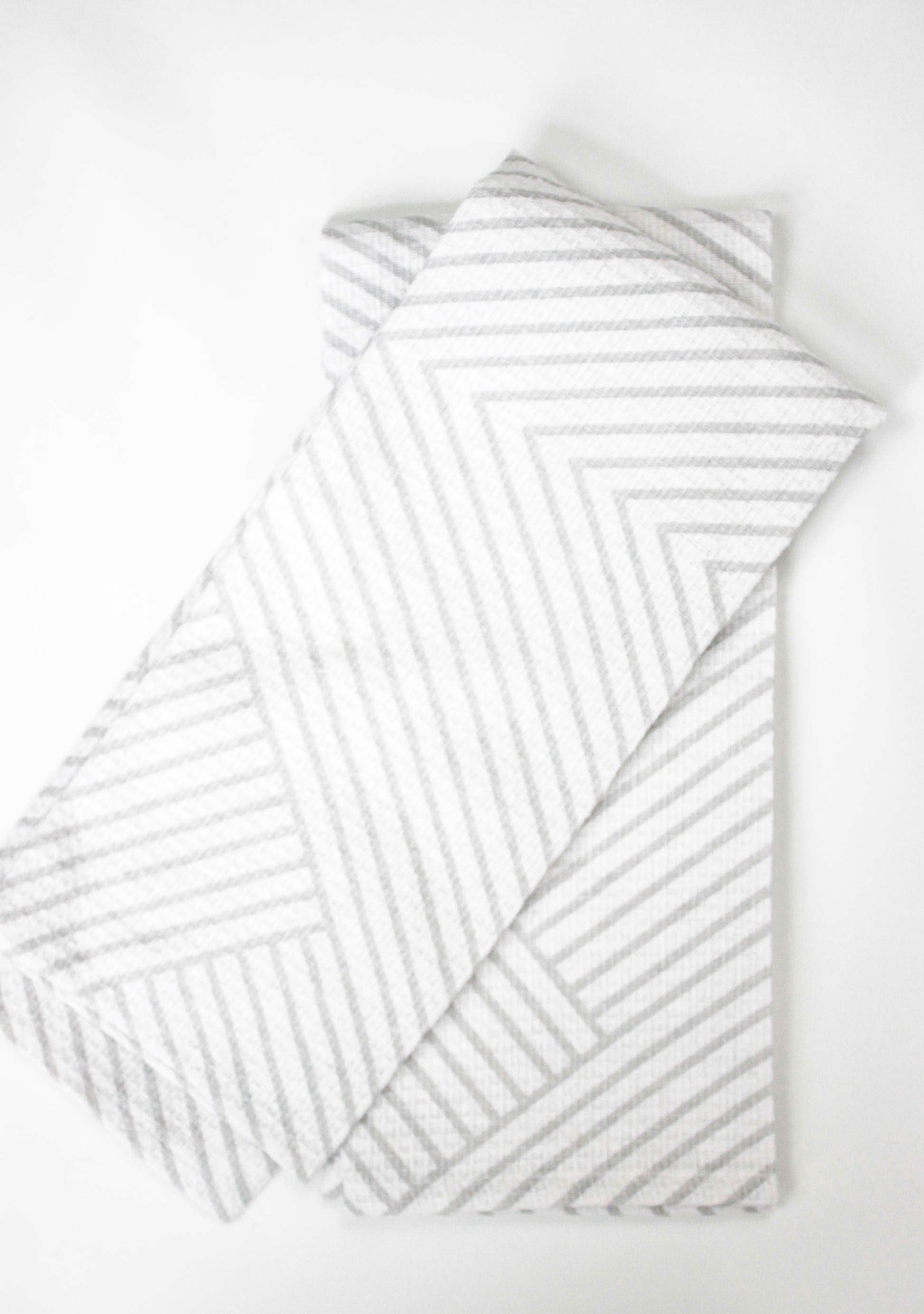 modern geometric tea towels