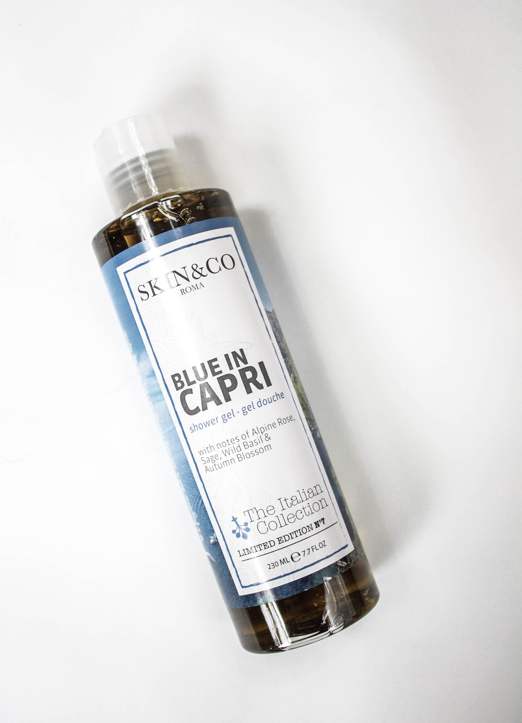 blue in capri shower gel