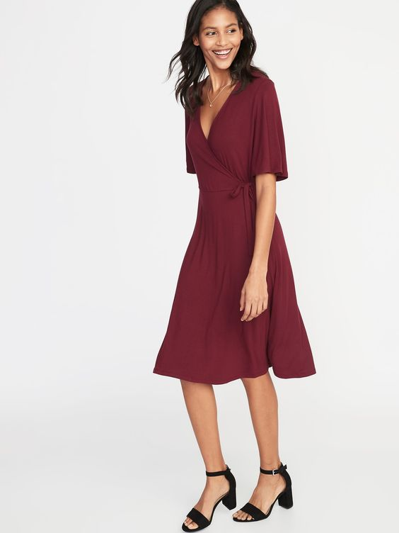 Old Navy: Tie-Belt Faux-Wrap Jersey Dress