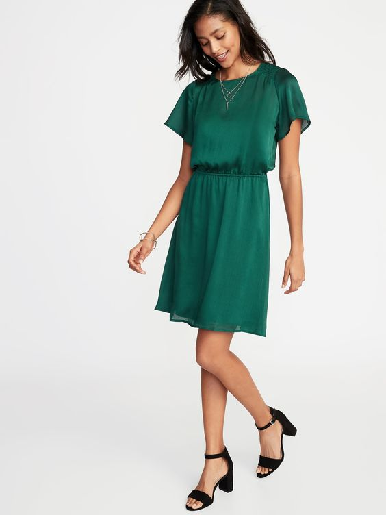 Old Navy: Smocked-Shoulder Dress