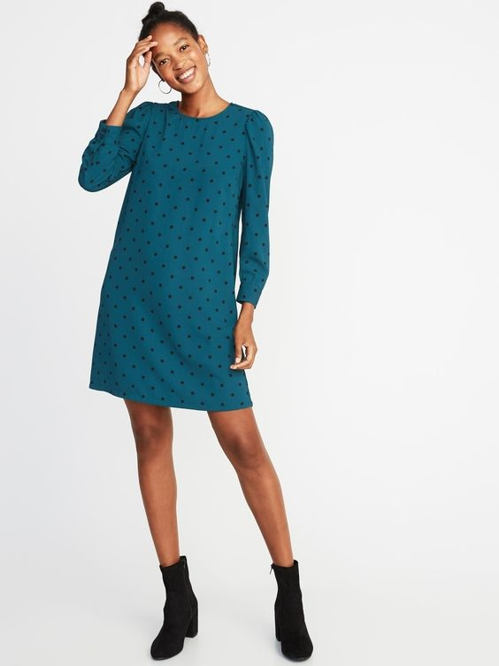 Old Navy: Polka-Dot Crepe Shift Dress