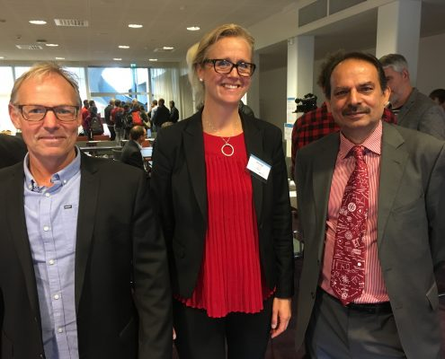 Anders Bjermo, MAX IV, Anna Hall ,  IUC Syd (arrangör och moderator), Izhar Ul-Haq, STFC (Support for Industry – Science and Technology Facilities Council, UK).