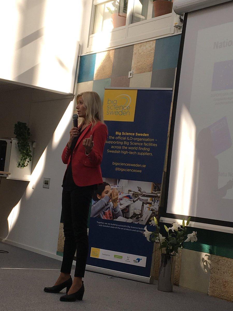 Satu Norsten Manninen från Tillväxtverket beskriver hur vi ska koppla akademi och industri och därför finansierar Big Science Sweden.