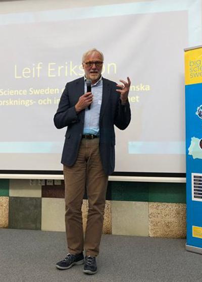 Leif Eriksson på Vetenskapsrådet beskriver Sveriges viktiga satsningar på forskningsinfrastruktur