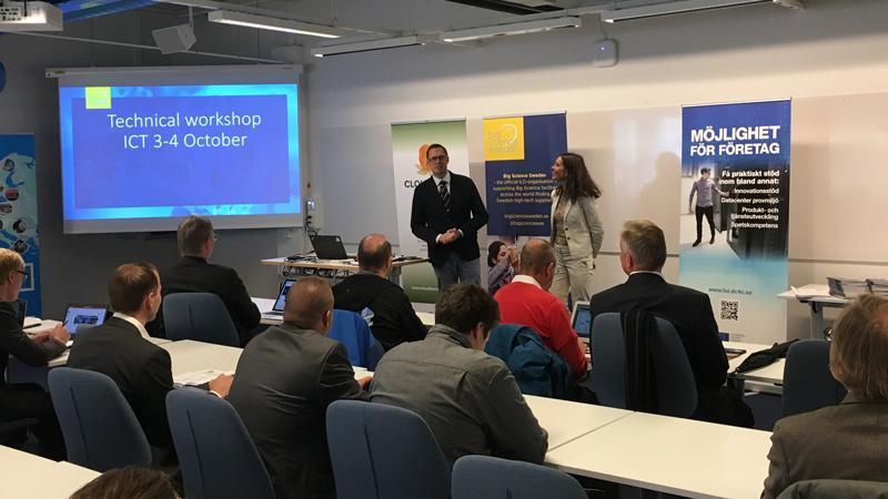 Jeanette Nilsson presenterar Jonas Ekman, LTU som talade om rymdbranschens behov kopplat till Big Data.