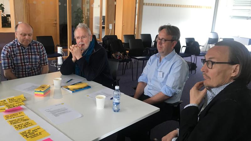 Dirk Rudolph, Colin Carlile och David Silvermyr med Mats Lindroos.