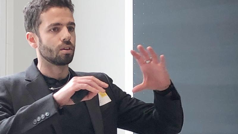 Kevin Pepitone från FREIA-laboratoriet berättade om teknik och teori bakom supraledande magneter som nyckelkomponenter inom Big Science. Teknik som kan revolutionera cancerbehandling med kompakt och effektiv behandlingsutrustning.