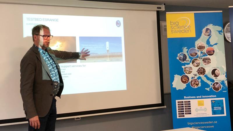 Olle Persson, Aerospace Cluster Sweden berättar om affärsmöjligheter inom framtidsbranschen rymd- och flyg.